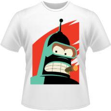 Camiseta-Futurama-Robo