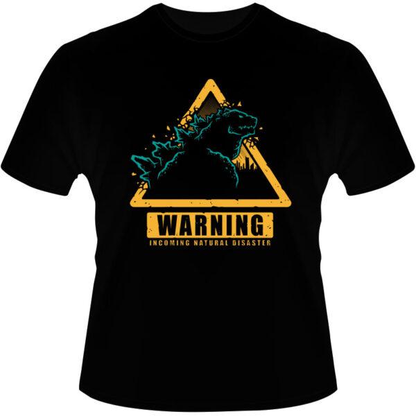 Camiseta-Godzilla-Warning