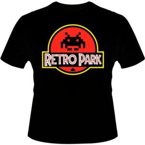 Camiseta-Jurassic-Park-Pixels