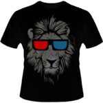 Camiseta-Lion-3D