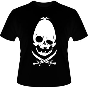 Camiseta-Pirate-Skull-Oval