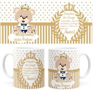 Caneca-Batizado-Dinda-Urso-Principe-Dourada