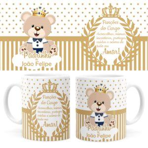 Caneca-Batizado-Dindo-Urso-Principe-Dourada